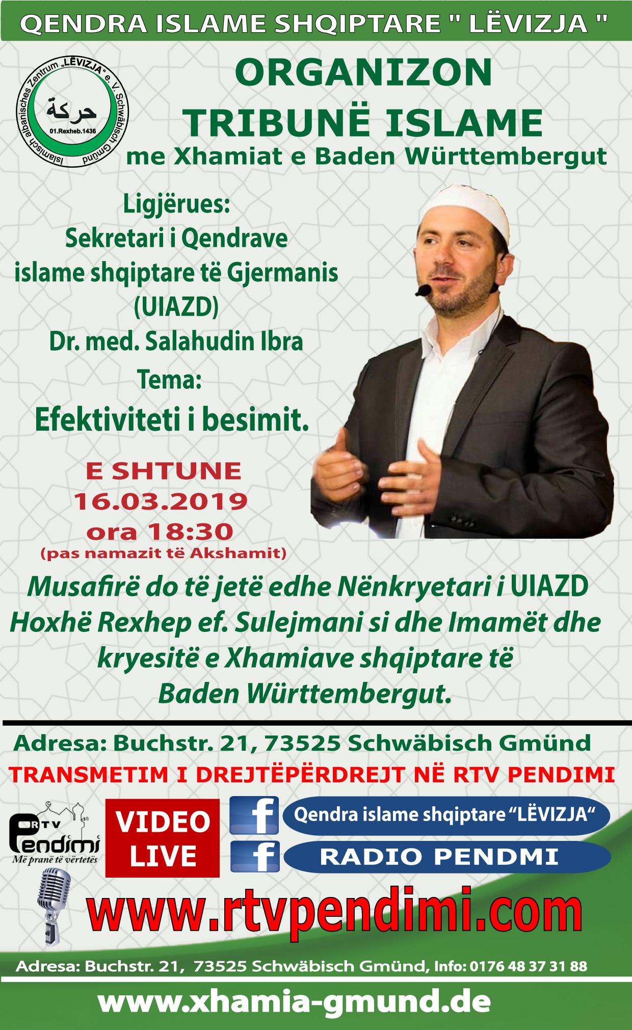 1. Tribun me Xhamiat e Baden Württembergut LEVIZJA2