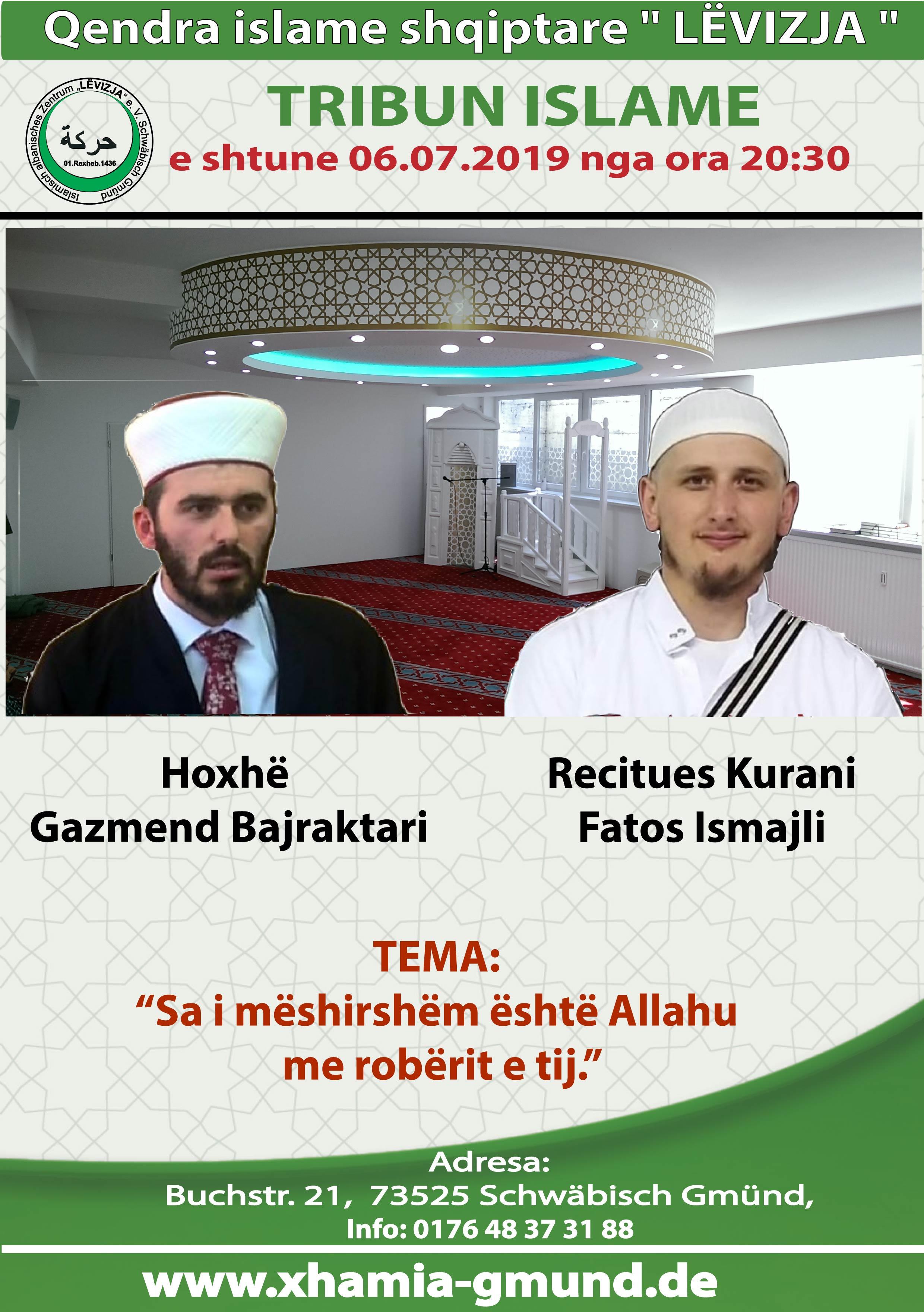 Tribun me Gazmir Bajraktani dhe Fatos ismaili 06.07.2019.